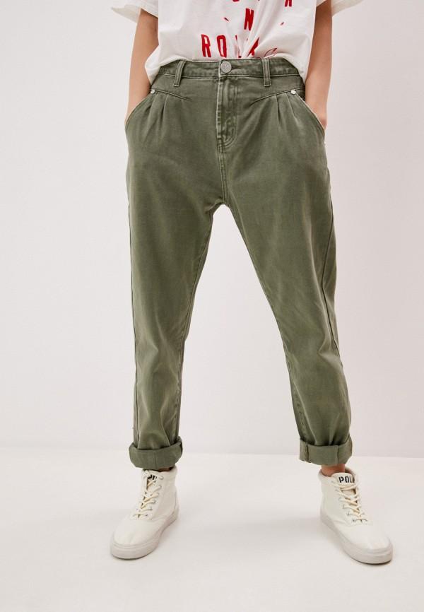 женские повседневные брюки one teaspoon, зеленые