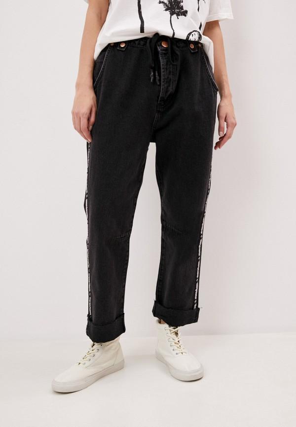женские прямые джинсы one teaspoon, черные