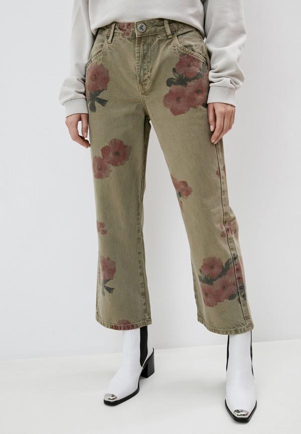 женские повседневные брюки one teaspoon, хаки
