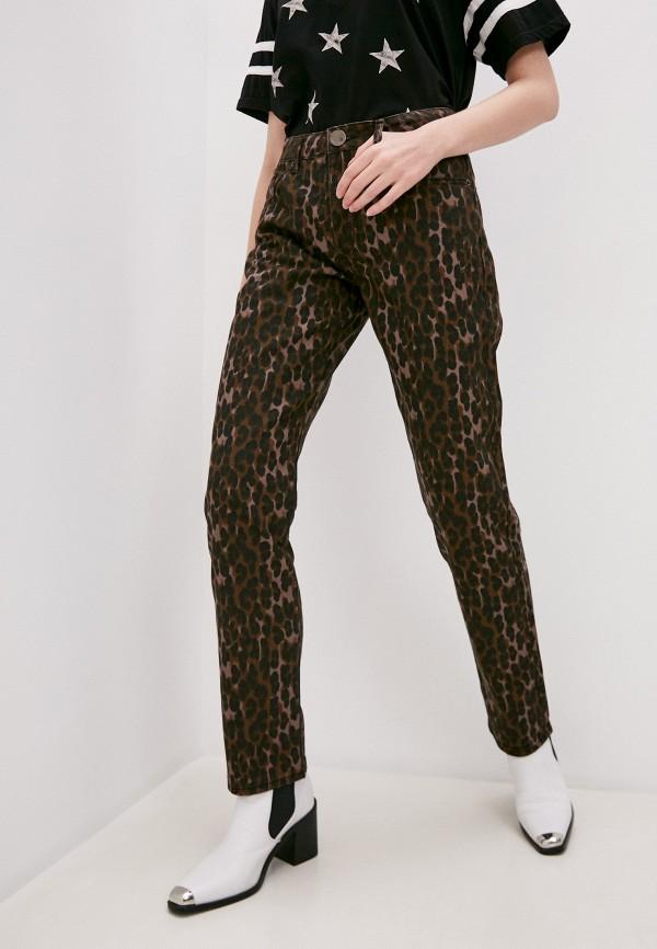 женские повседневные брюки one teaspoon, коричневые