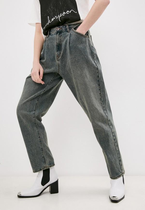 женские джинсы клеш one teaspoon, синие