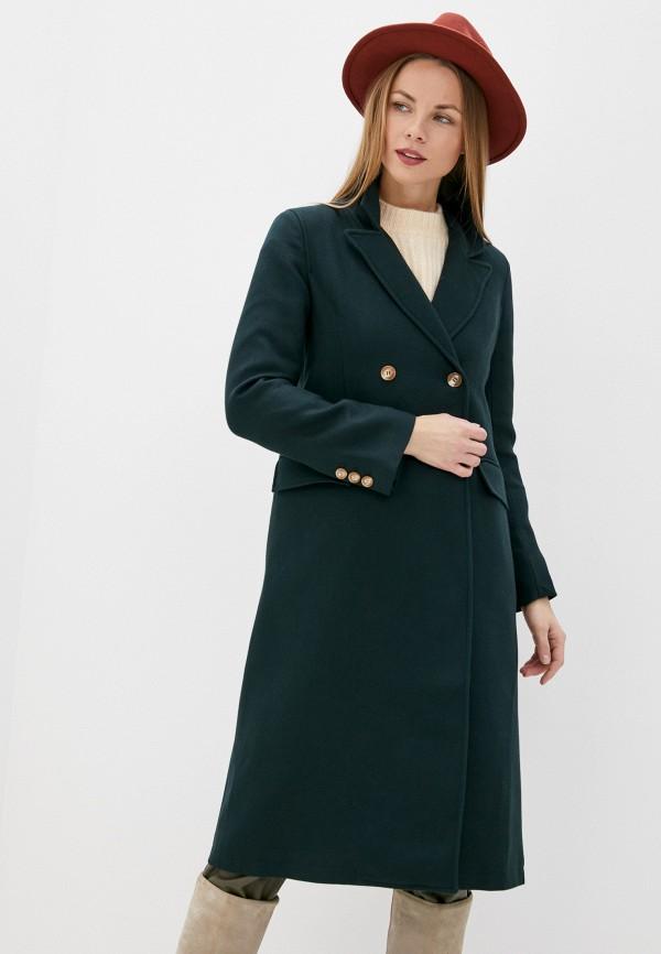 женское пальто on parle de vous, зеленое