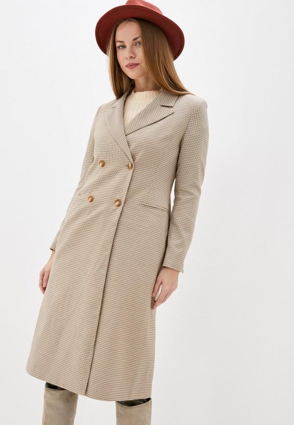 женское пальто on parle de vous, бежевое