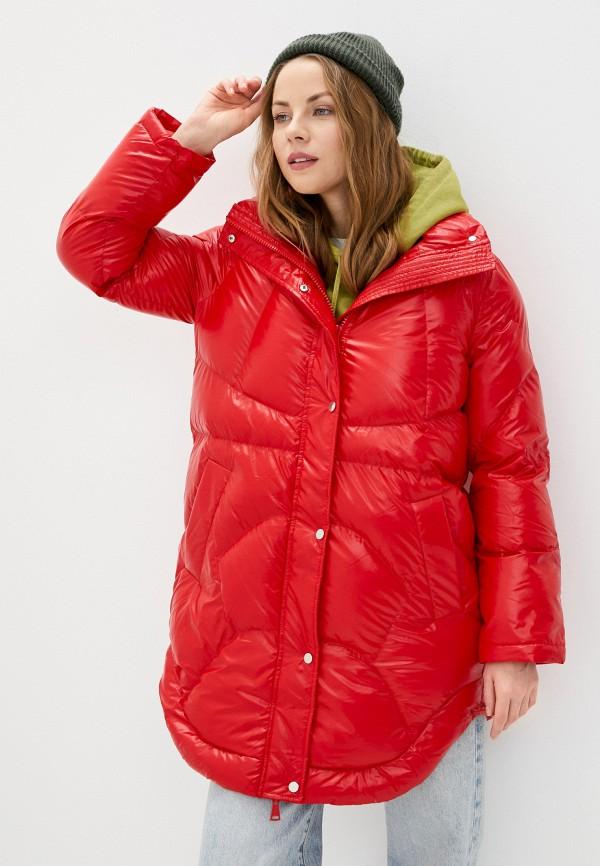 женская куртка on parle de vous, красная