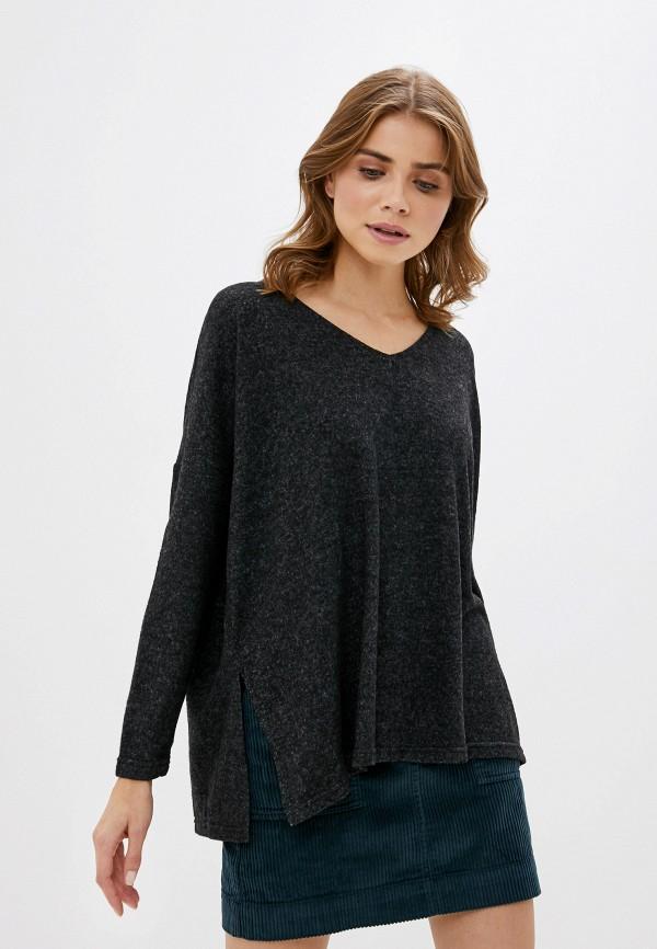 женский пуловер only carmakoma, серый