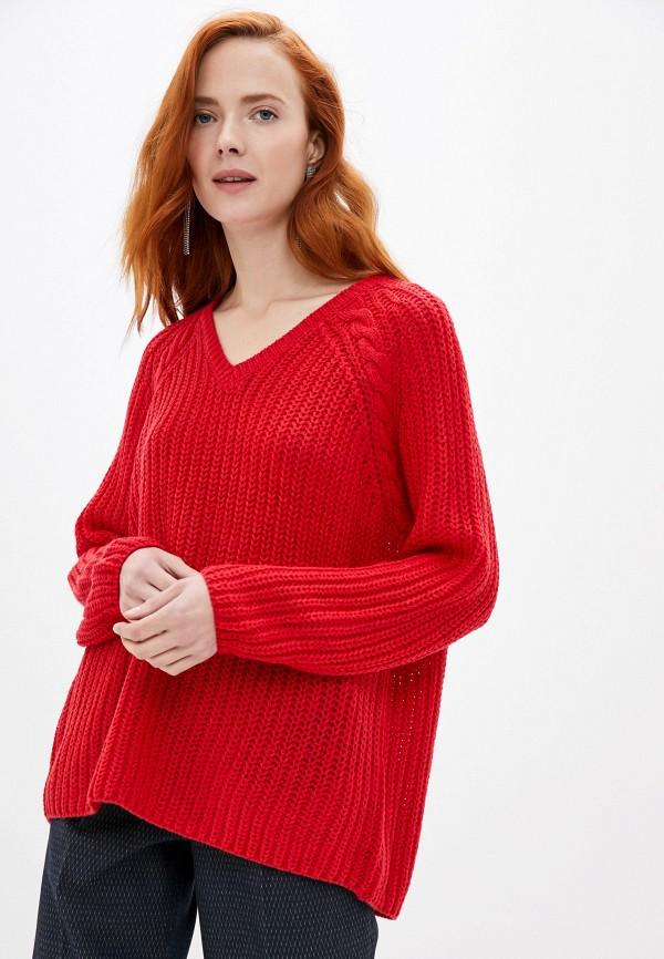 женский пуловер only carmakoma, красный