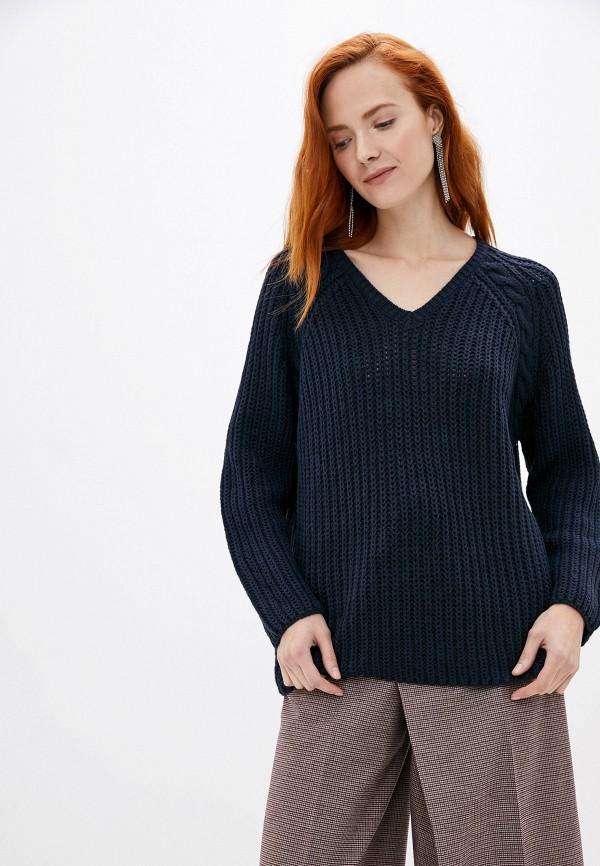 женский пуловер only carmakoma, синий