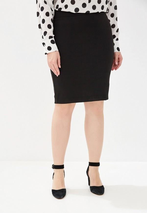 женская прямые юбка only carmakoma, черная
