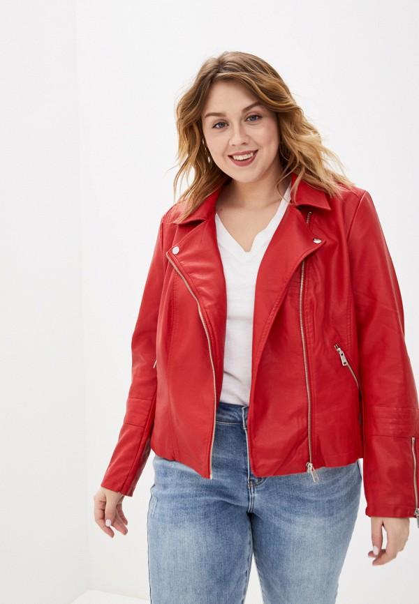 женская куртка only carmakoma, красная