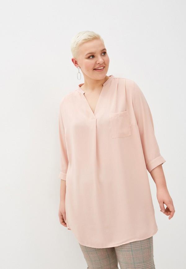 женская туника only carmakoma, розовая
