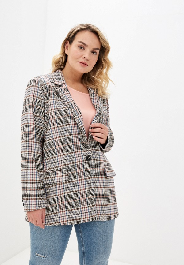 женский пиджак only carmakoma, бежевый