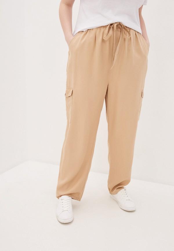женские брюки only carmakoma, бежевые