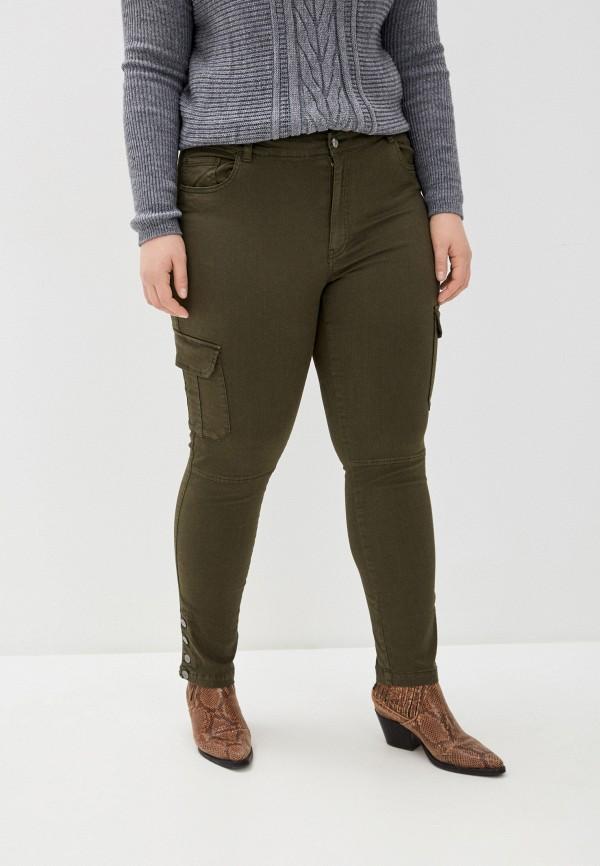 женские брюки only carmakoma, хаки