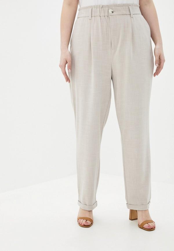 женские прямые брюки only carmakoma, серые