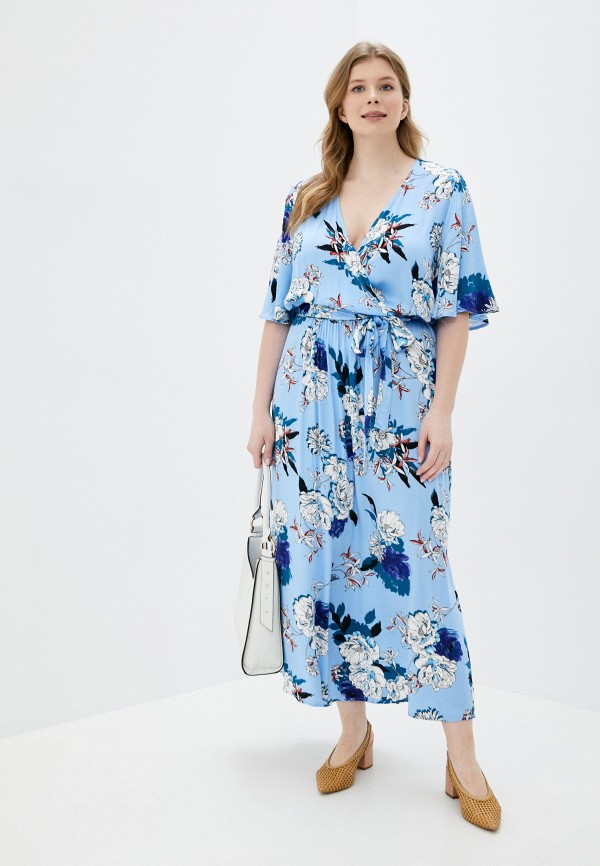 женское платье only carmakoma, голубое