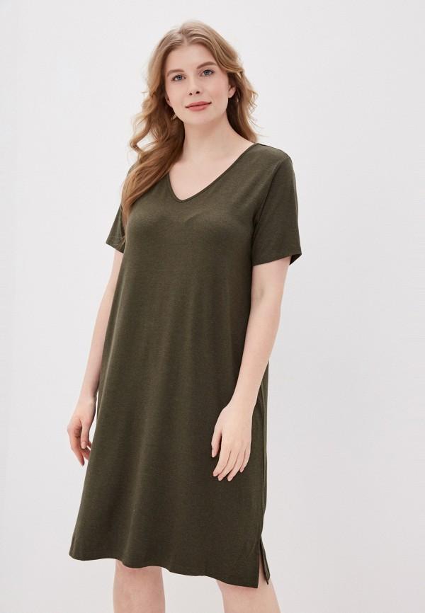 женское платье only carmakoma, хаки