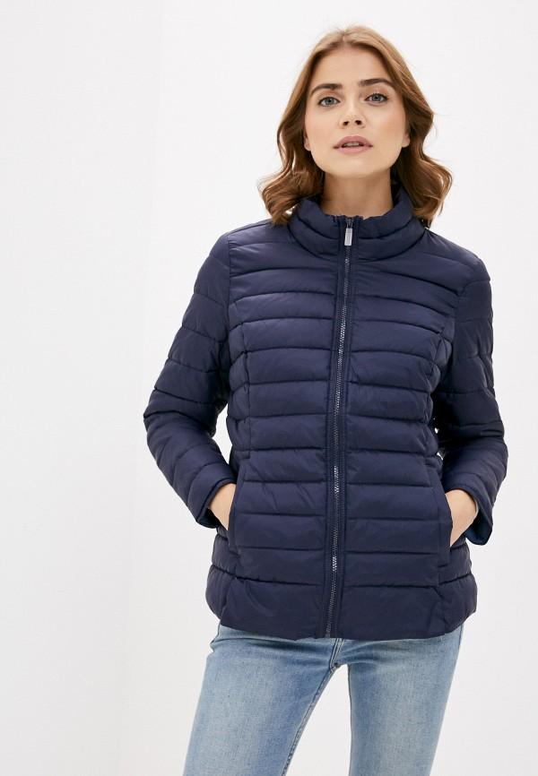женская куртка only carmakoma, синяя