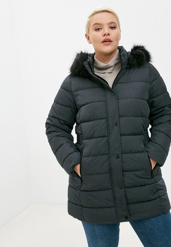 женская куртка only carmakoma, серая