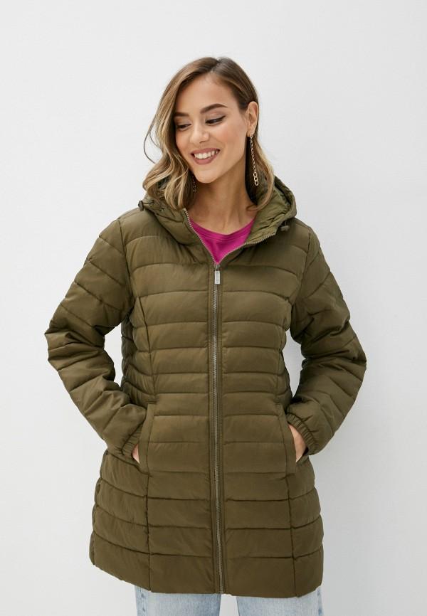 женская куртка only carmakoma, хаки