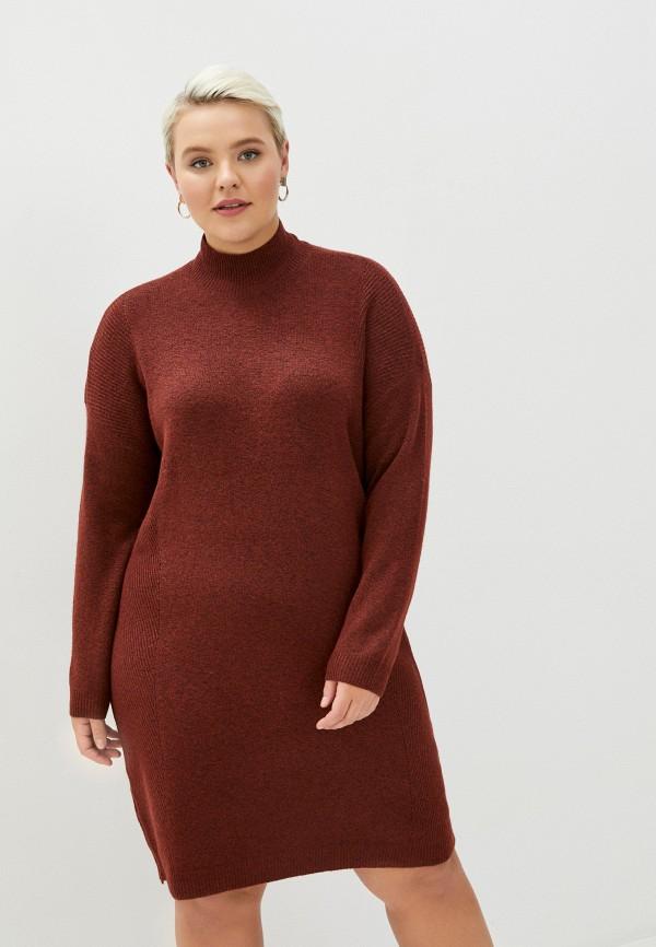 женское повседневные платье only carmakoma, красное