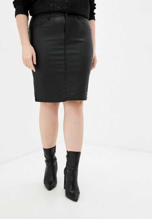 женская зауженные юбка only carmakoma, черная