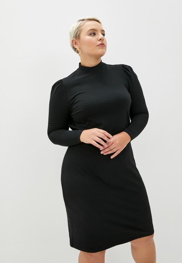 женское повседневные платье only carmakoma, черное