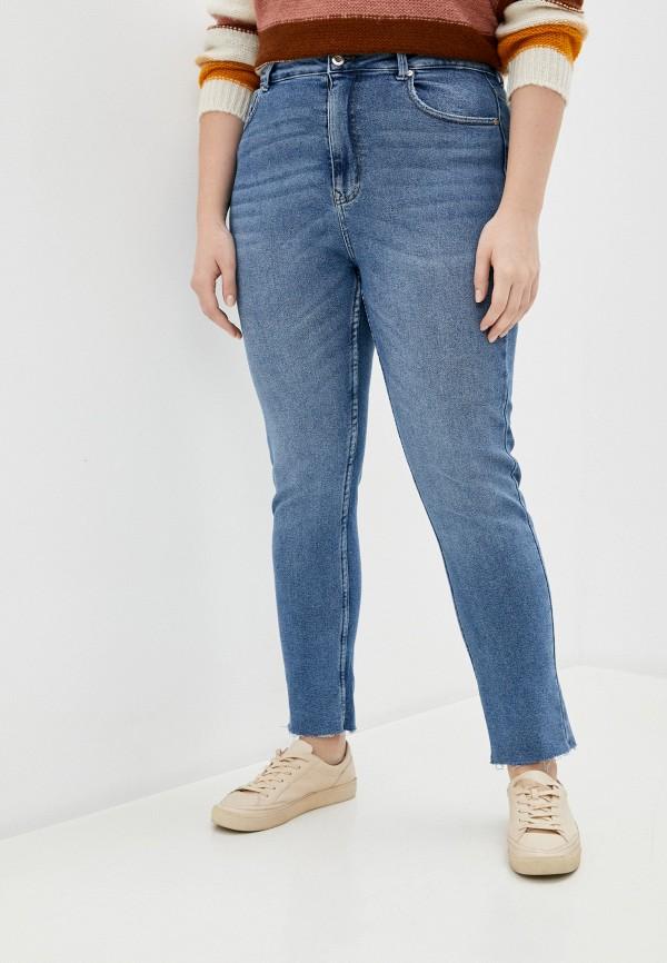 женские джинсы only carmakoma, голубые