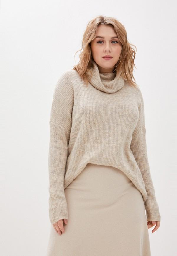 женский свитер only carmakoma, бежевый