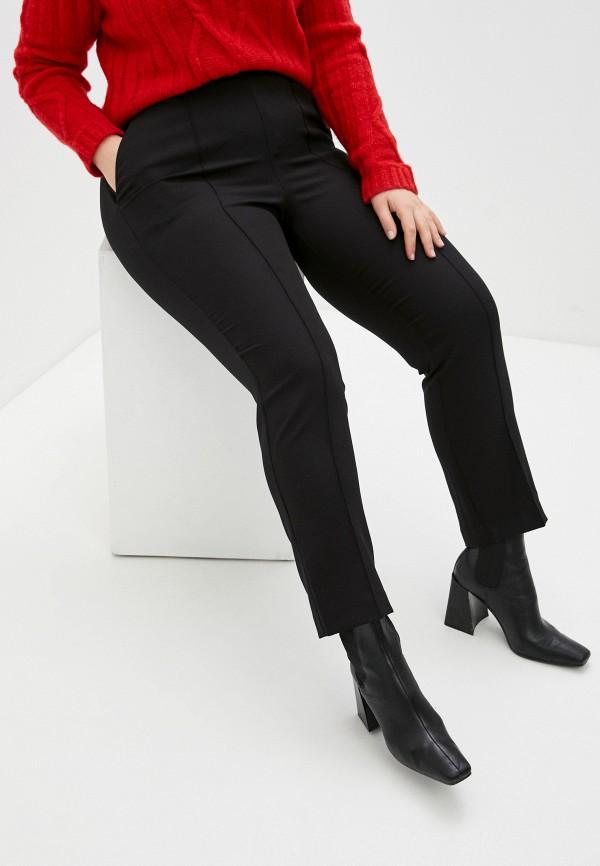 женские зауженные брюки only carmakoma, черные