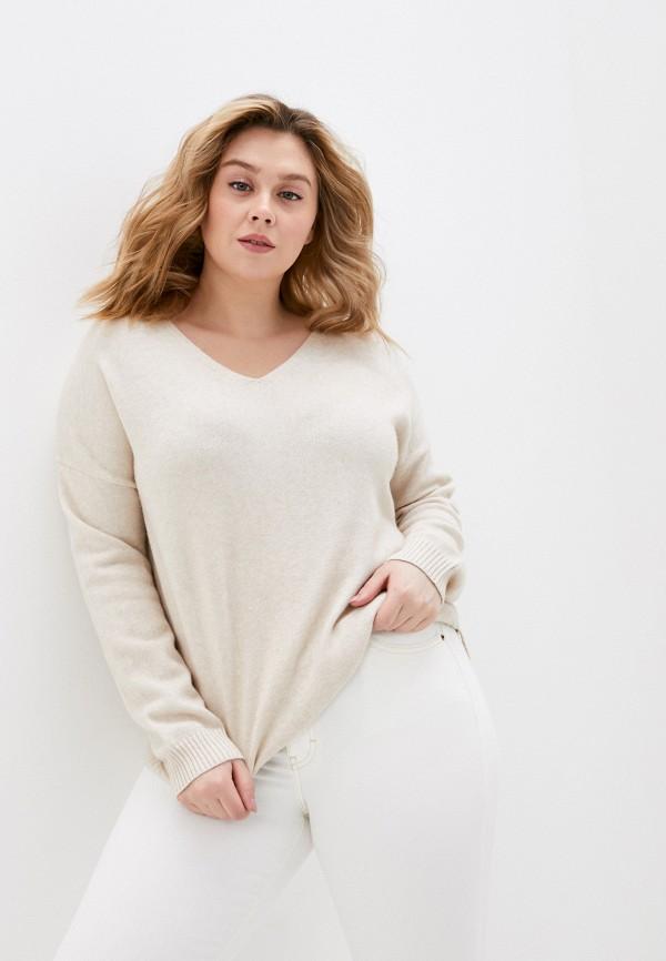 женский пуловер only carmakoma, бежевый