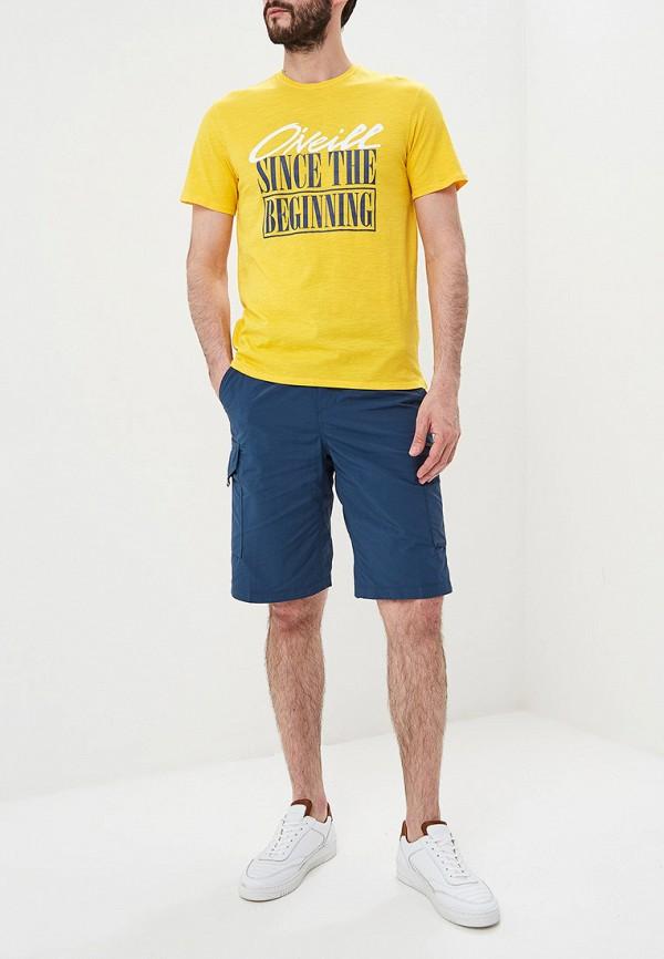 Фото 2 - мужскую футболку O`Neill желтого цвета