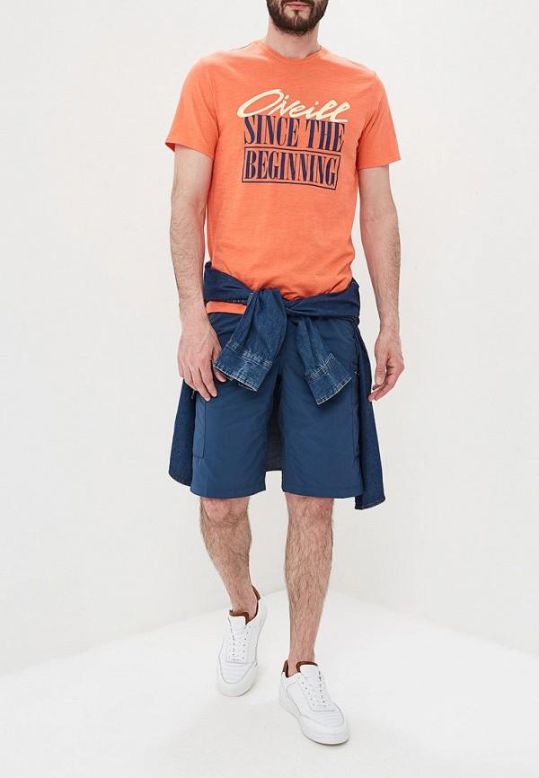 Фото 2 - мужскую футболку O`Neill оранжевого цвета