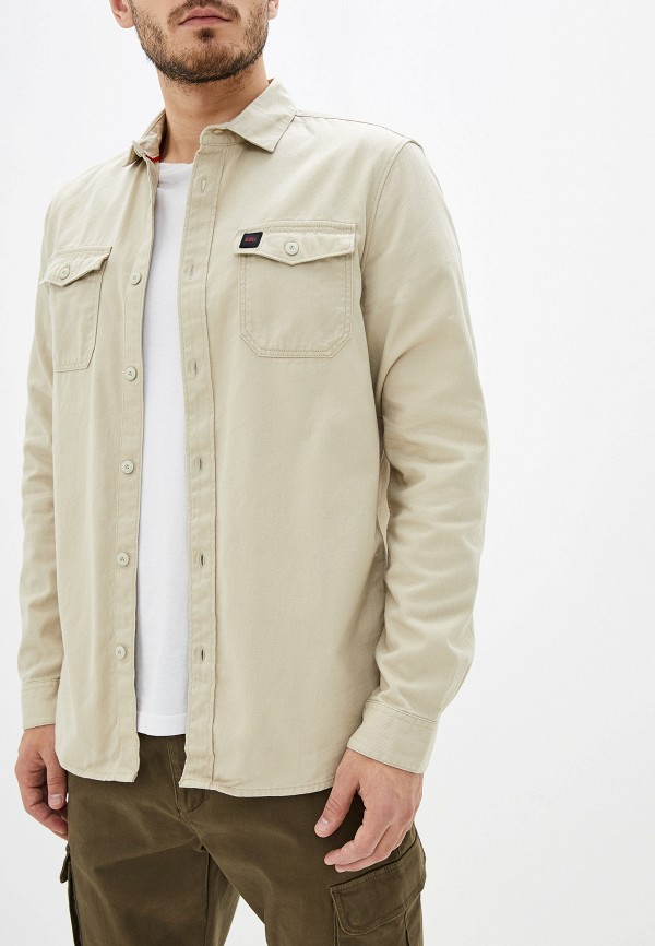 мужская рубашка с длинным рукавом o'neill, бежевая