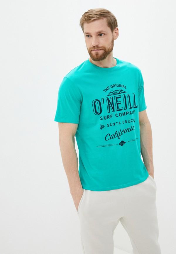 мужская спортивные футболка o'neill, зеленая
