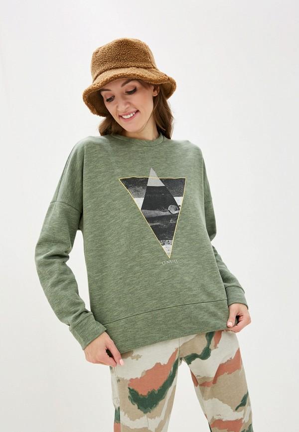 женский свитшот o'neill, зеленый