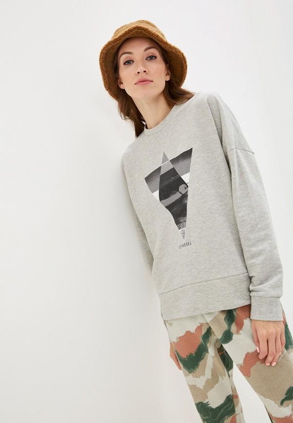 женский свитшот o'neill, серый