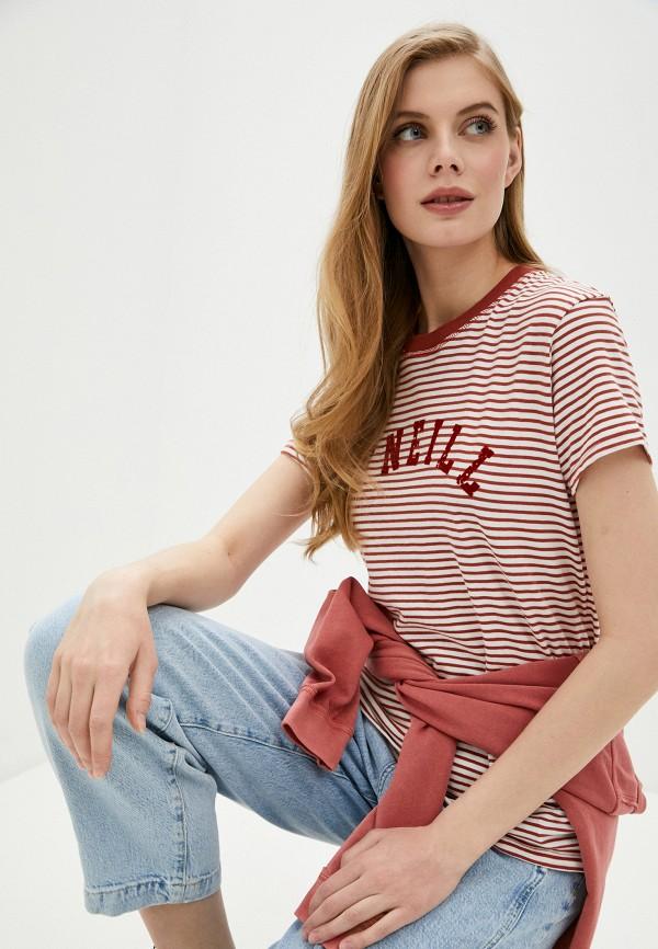 женская спортивные футболка o'neill, коричневая