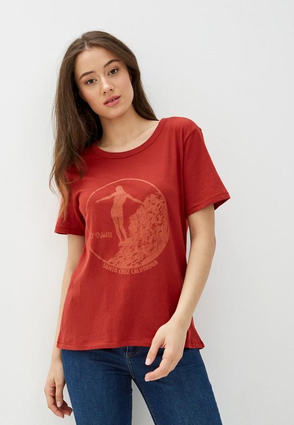 женская спортивные футболка o'neill, красная