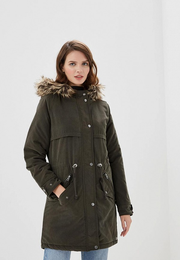 Купить Куртка утепленная Only, ON380EWCAXD4, хаки, Осень-зима 2018/2019