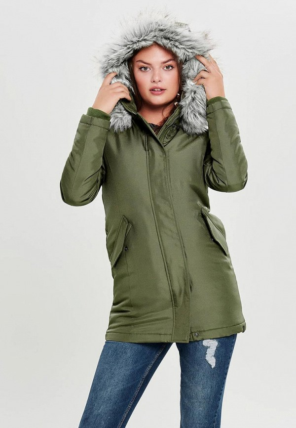 Купить Куртка утепленная Only, ON380EWCAXF5, хаки, Осень-зима 2018/2019