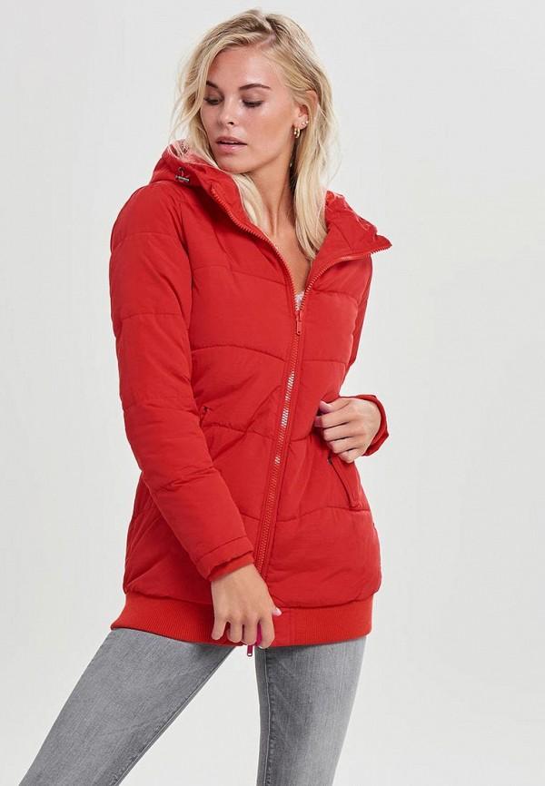 женская куртка only, красная