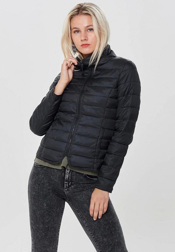 Фото 5 - Куртку утепленная Only черного цвета