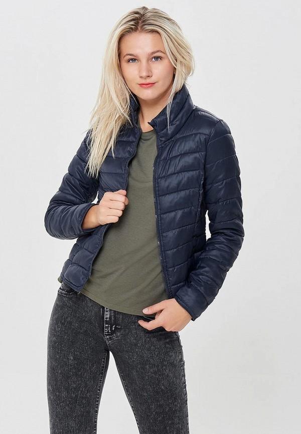 Фото 5 - Куртку утепленная Only синего цвета