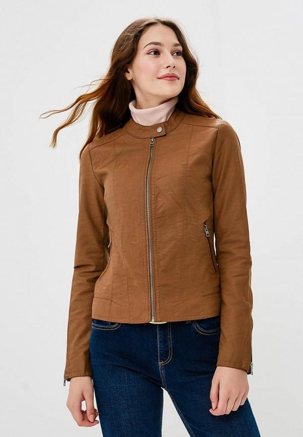 Купить Куртка кожаная Only, ON380EWCAXL3, коричневый, Осень-зима 2018/2019