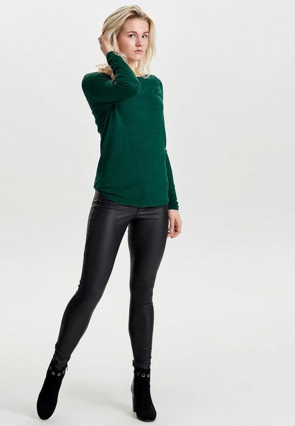 Фото 2 - женский джемпер Only зеленого цвета