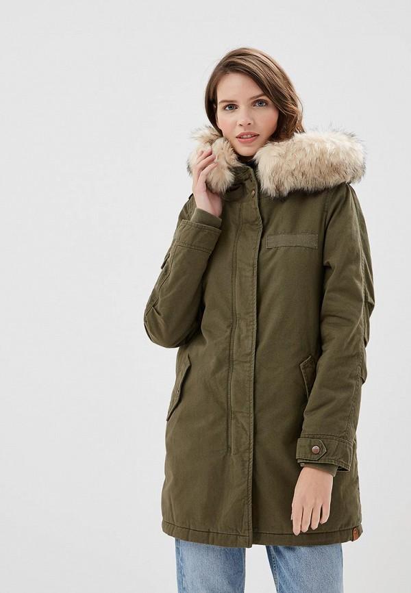 Купить Куртка утепленная Only, ON380EWCAYV6, хаки, Осень-зима 2018/2019