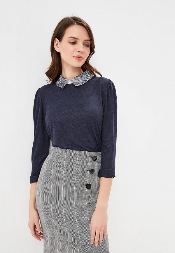 женская блузка only, синяя