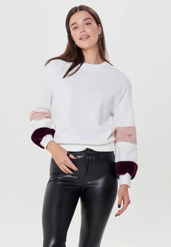Купить Свитшот Only, ON380EWCXKY5, белый, Осень-зима 2018/2019