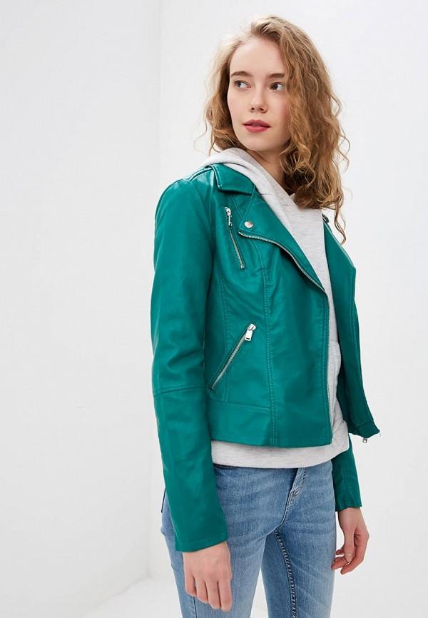 женская куртка only, зеленая