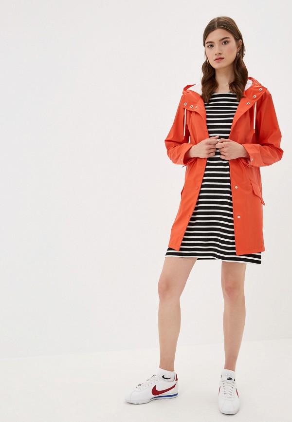 Фото 2 - женское пальто или плащ Only оранжевого цвета
